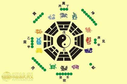 十二生肖八卦图方位,八卦与十二生肖关系解析图片