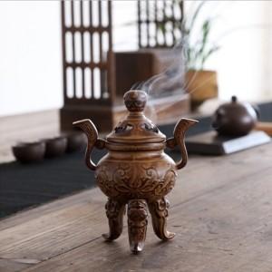 祥瑞纹仿古高档陶瓷香炉  小 摆件