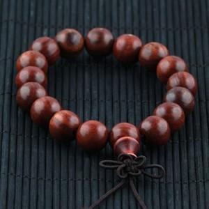 天然优质红檀佛珠手链  男女款 手串