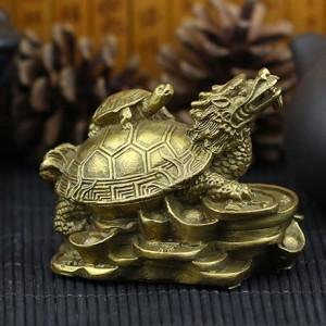 纯铜龙龟献宝摆件工艺品  小号 摆件