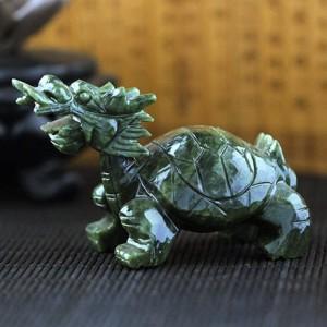 开光顶级青玉龙龟摆件  小号 摆件