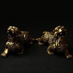 纯铜金钱貔貅摆件  小号 摆件