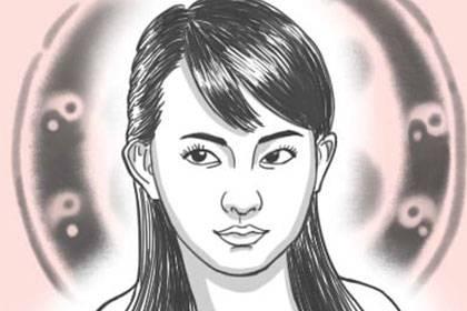 女人右眼角中间长了痣